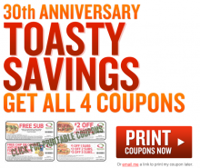 photograph relating to Quizno Printable Coupons referred to as Quiznos Frugal Working day