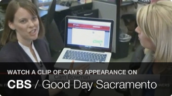 Watch a clip of Cam's appearance on CBS / Good Day Sacaramento
